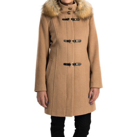Jonathan Michael Camel Hair Coat - Toggle Front (For Women)