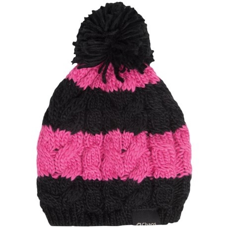 Chaos Cable-Knit Striped Hat (For Big Kids)