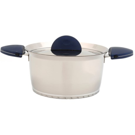 """BergHOFF Stacca Stainless Steel Covered Stock Pot - 10"""""""
