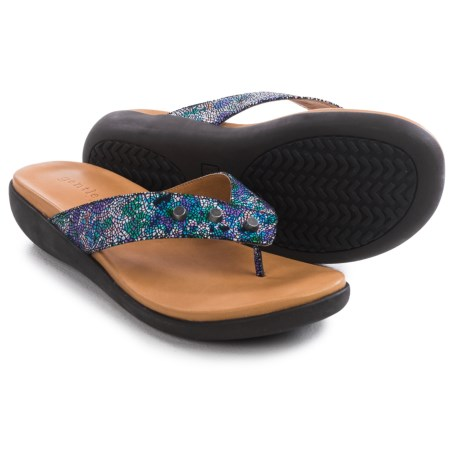 Gentle Souls Gilford Print Flip-Flops - Leather (For Women)