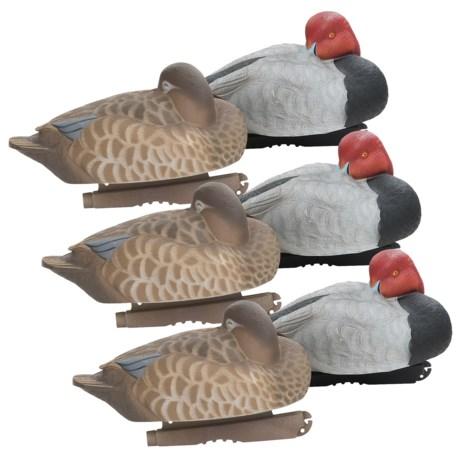 Greenhead Gear Pro-Grade Redhead Sleeper Duck Decoys - 6-Pack