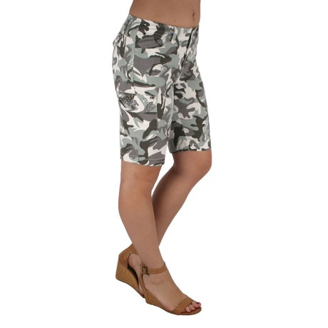 Ethyl Camo Stretch Shorts (For Women)
