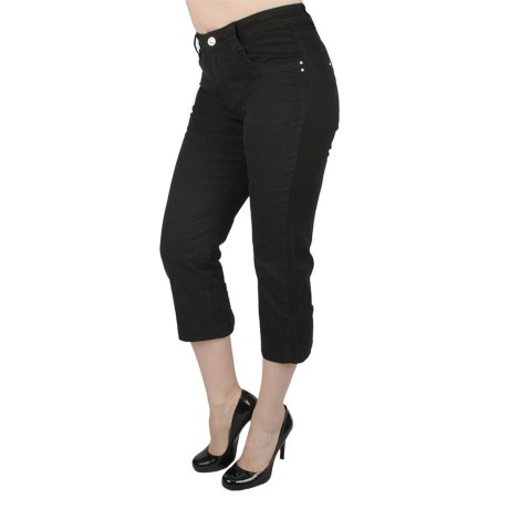 Ethyl Studded Chino Capris (For Women)