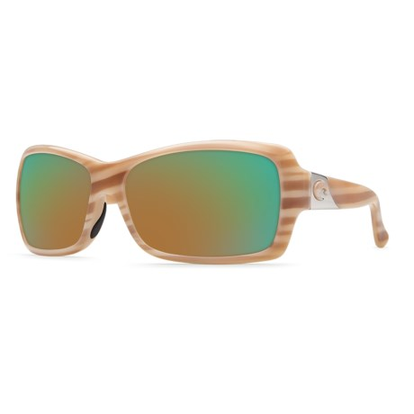 Costa Islamorada Sunglasses - Polarized 400G Glass Mirror Lenses (For Women)