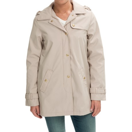 Weatherproof Hooded A-Line Jacket (For Women)