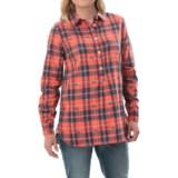 Hatley Popover Plaid Tunic Shirt - Long Sleeve (For Women)