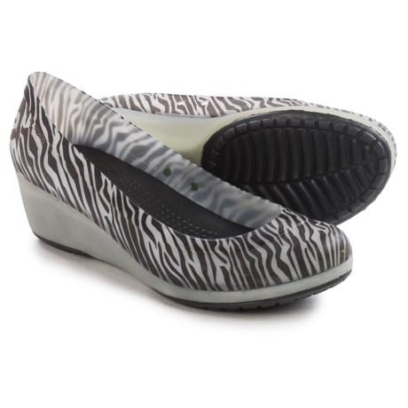 Crocs Carlisa Animal Graphic Mini Wedge Shoes - Slip-Ons (For Women)