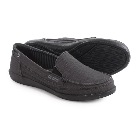 Crocs Walu Canvas Shoes - Slip-Ons (For Women)