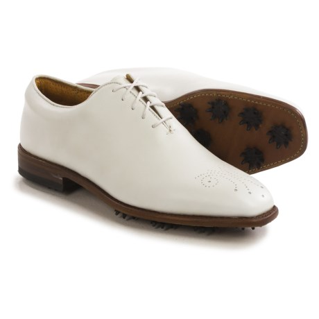 Justin Golf Albatross Golf Shoes - White Leather (For Men)