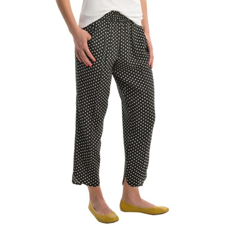 Philosophy Print Ankle Pants (For Women)