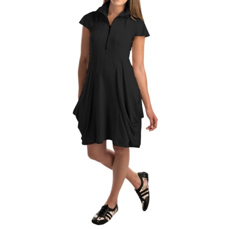 Philosophy Funnel Neck Dress - Short Sleeve (For Women)
