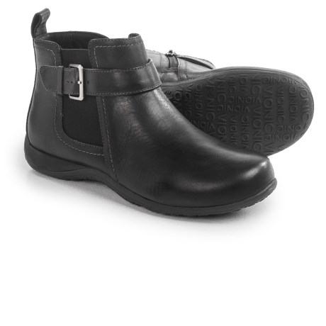 Vionic with Orthaheel Technology Adrie Ankle Boots - Leather, Side Zip (For Women)
