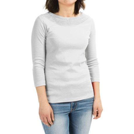 GRACE Grace Embroidered Shirt - 3/4 Sleeve (For Women)