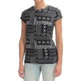 Chelsea & Theodore Print Shirt - Short Sleeve (For Women)