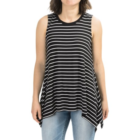 AJ Andrea Jovine Pointed Hem Tank Top - Stretch Rayon (For Women)