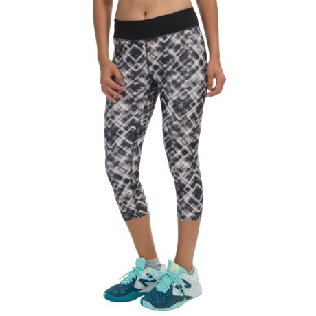 Spalding Neo Plaid Print Capris (For Women)