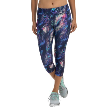 Spalding Feathery Print Capris (For Women)