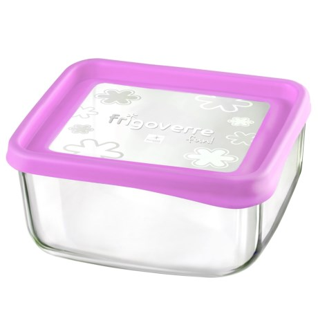Bormioli Rocco Frigoverre Fun Square Glass Container - 7""