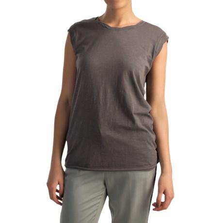 AJ Andrea Jovine Twisted Shirt - Sleeveless (For Women)