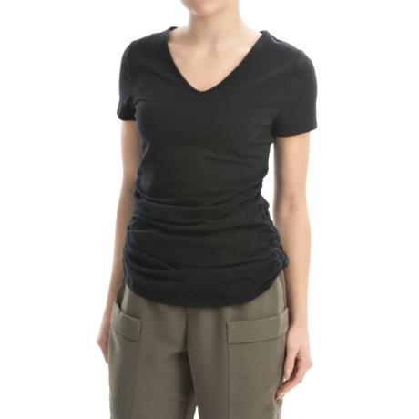 AJ Andrea Jovine Ruched Shirt - Short Sleeve (For Women)