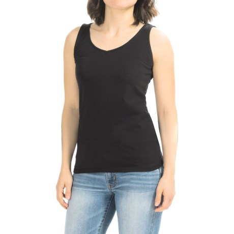 AJ Andrea Jovine V-Neck Tank Top (For Women)