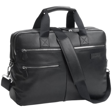 Genius Pack Luxe Leather Entrepreneur Briefcase