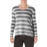 Steve Madden Twisted Open-Back Shirt - Long Sleeve (For Women)