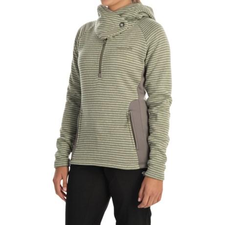 Avalanche Cascade Hooded Sweater - Zip Neck (For Women)