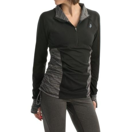Penn Tennis Space Runner Shirt - Zip Neck, Long Sleeve (For Women)