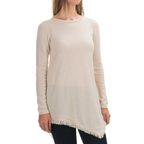 Philosophy Cashmere Fringed Handkerchief Tunic Sweater (For Women)