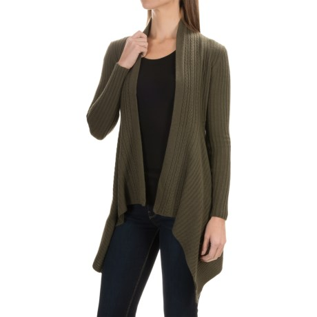 Andrea Jovine Cascade Cardigan Sweater - Cashmere, Open Front (For Women)