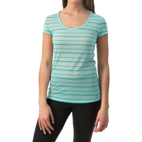 90 Degree by Reflex Wide Stripe Shirt - Short Sleeve (For Women)