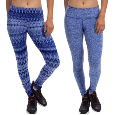 90 Degree by Reflex Reversible Printed Leggings (For Women)