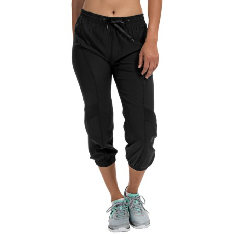 90 Degree by Reflex Woven Capris (For Women)