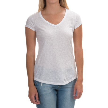 Mercer & Madison Mercer and Madison Slub Jersey T-Shirt - Pima Cotton, Short Sleeve (For Women)