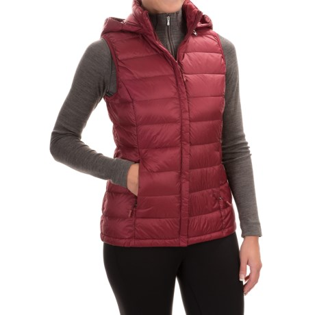 Weatherproof 32 Degrees Silk Nano Down Vest - 650 Fill Power, Detachable Hood (For Women)