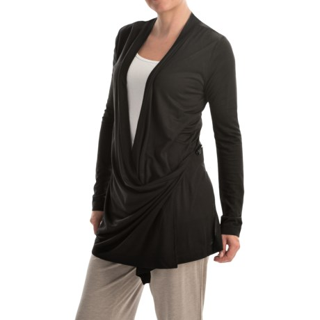 Kristy + Chloe Side-Tie Wrap Knit Shirt - Long Sleeve (For Women)