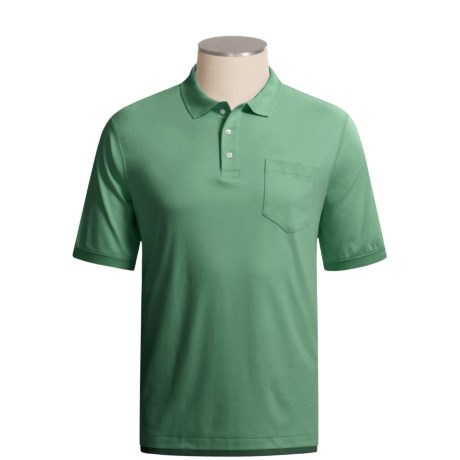 Cotton Polo Shirt - Short Sleeve (For Men and Tall Men)