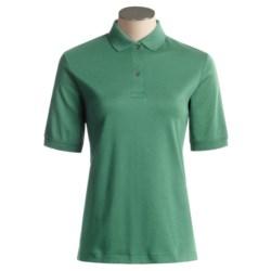 Fine Cotton Polo Shirt - Short Sleeve (For Women)