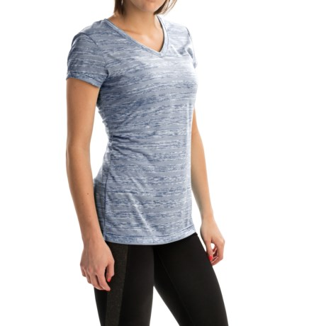 Spalding Striped Space-Dye T-Shirt - Short Sleeve (For Women)