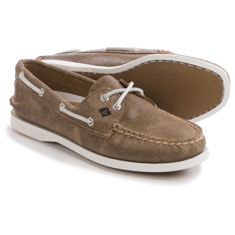 Sperry Authentic Original White Cap Boat Shoes - Leather (For Women)