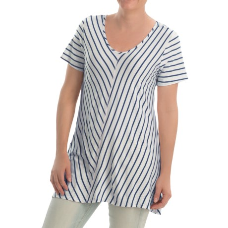 NTCO Ship & Shore Laurel Tunic Shirt - Stretch Rayon, Short Sleeve (For Women)