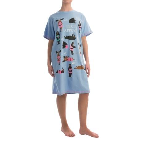 Little Blue House by Hatley Printed Sleep Shirt - Cotton Jersey, Short Sleeve (For Women)