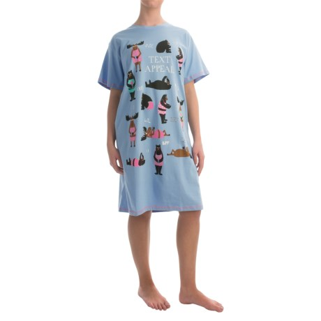 Little Blue House by Hatley Printed Sleep Shirt - Cotton Jersey, Short Sleeve (For Women)