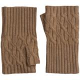 Forte Cashmere Texting Gloves - Fingerless (For Women)