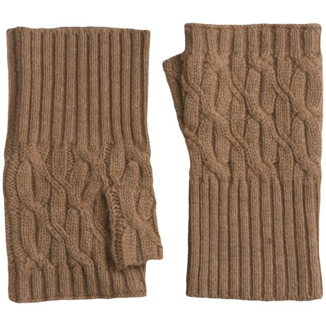 Forte Cashmere Texting Gloves - Fingerless (For Women)