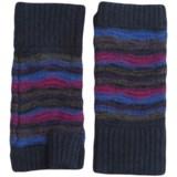 Forte Cashmere Striped Texting Gloves - Fingerless (For Women)