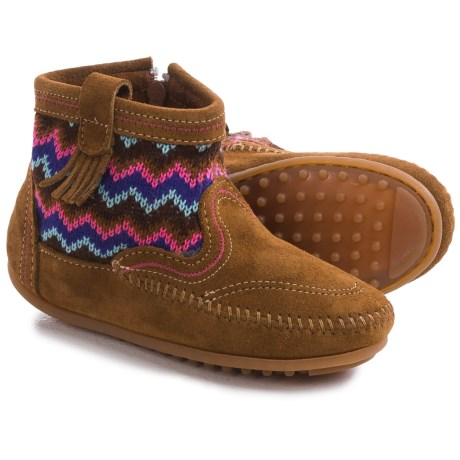 Minnetonka Sweater Boots - Suede (For Little and Big Girls)