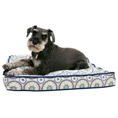 "Cynthia Rowley Tile Medallion Rectangle Dog Bed - Medium, 28x19"""