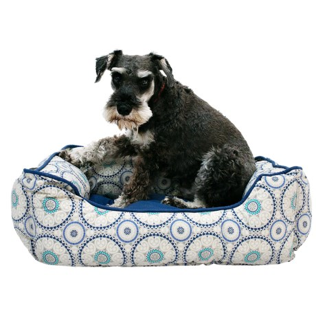 """Cynthia Rowley Tile Medallion Cuddler Dog Bed - 24x19"""""""